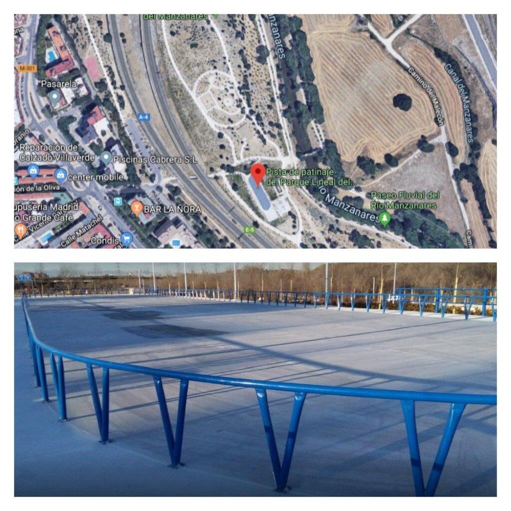collage pista parque lineal Manzanares
